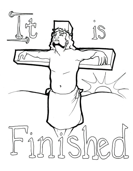 jesus on the cross coloring page # 6