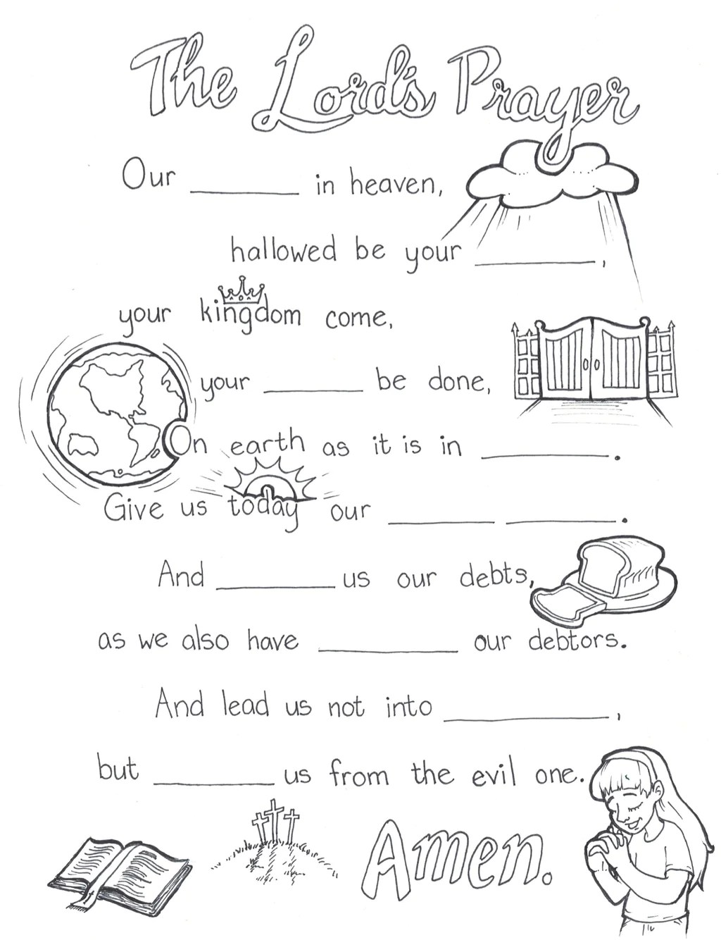 Lord S Prayer Coloring Page