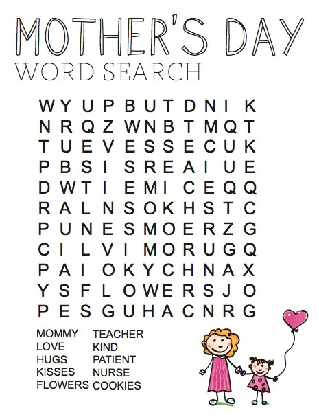 FREE Mother's Day Word Search – Children's Ministry Deals