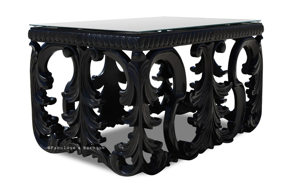 simone coffee table black small