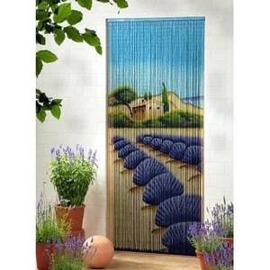rideau de porte bambou lavandin