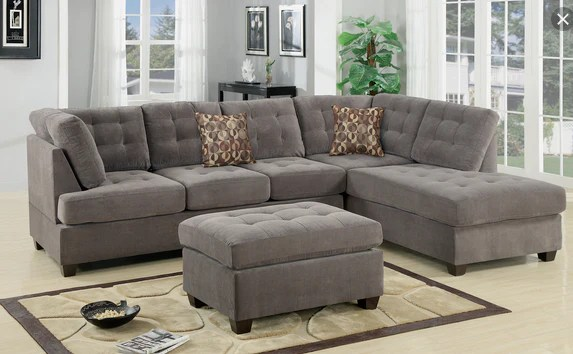 2pc tufted sectional
