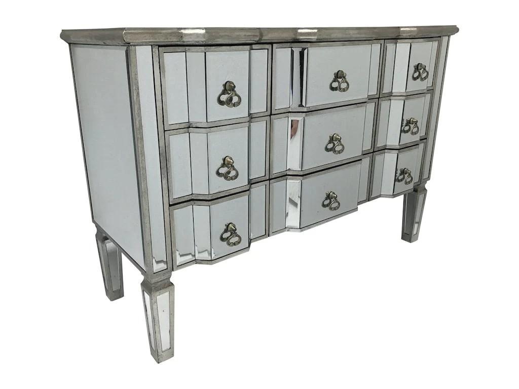 mirrored chest of 9 drawers charleston interiors invogue