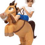Inflatable Ride On Cowboy Costume Child Spooktacular Creations