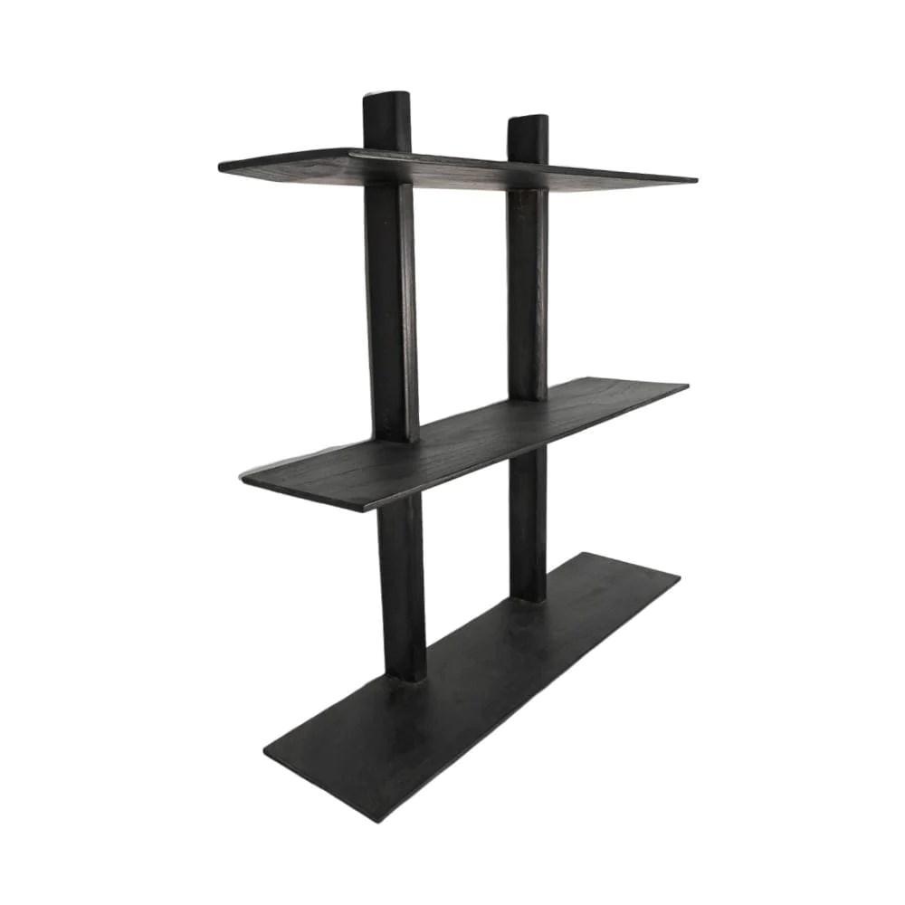 Wooden Wall Shelves Black 100x90cm Zoco Home