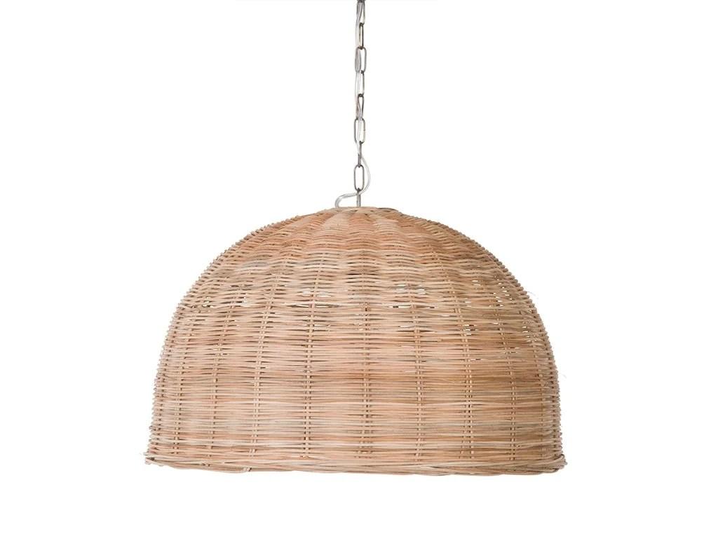 panay wicker dome pendant lamp natural