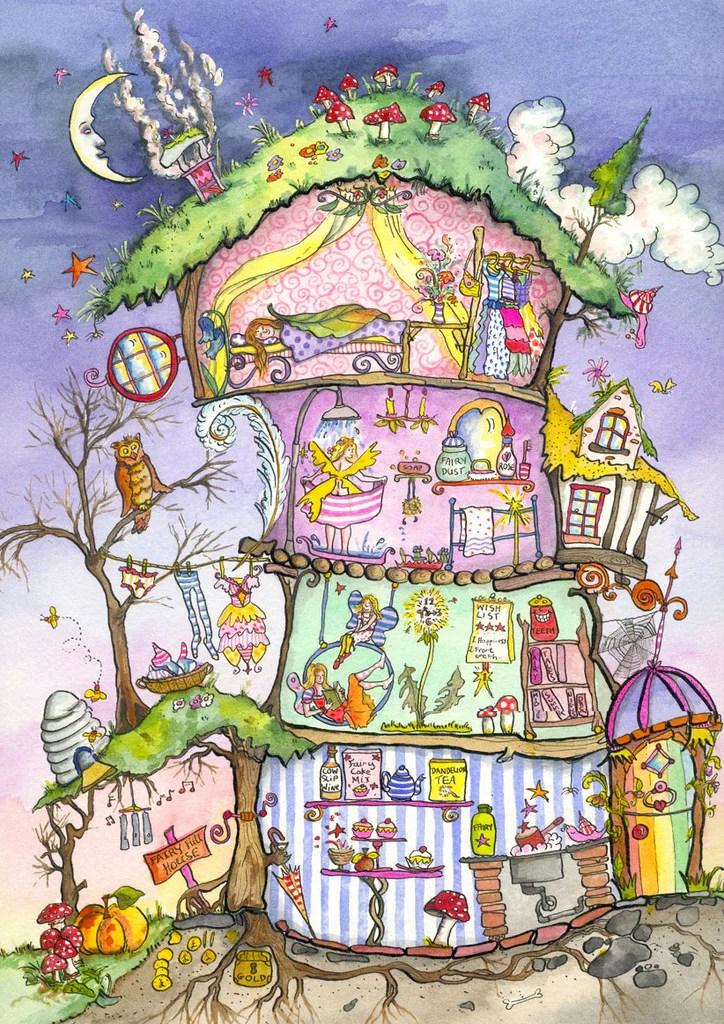 Fairy House Cut Thru Poster By Amanda Loverseed
