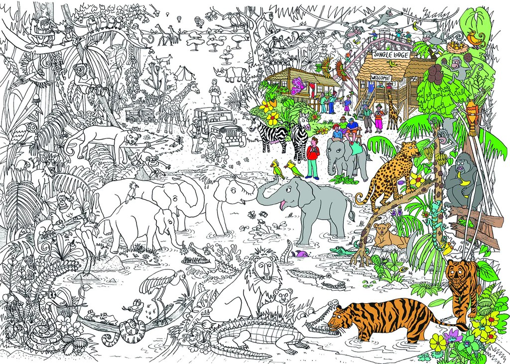 really giant colouring in posters