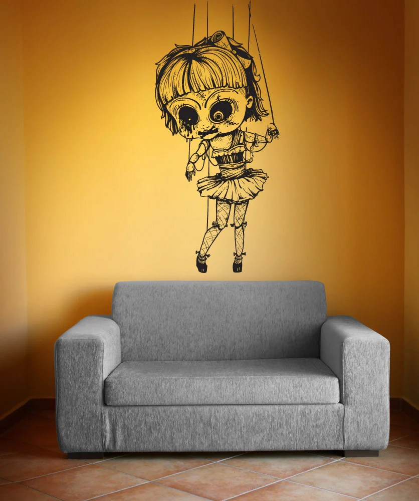 Vinyl Wall Decal Sticker Creepy Doll 1230