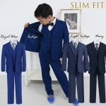 Toddler To Big Boy Slim Fit 7 Piece Suit Indigo Navy Royal Blue 1 18 Ashbury Coco