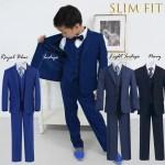 Toddler To Big Boy Slim Fit 7 Piece Suit Indigo Navy Royal Blue 1 18 Ashbury Coco