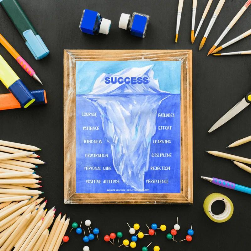 success iceberg poster pdf