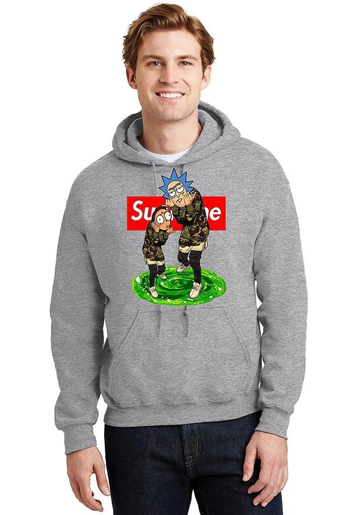Dota HampK Clothing Rick And Morty Hoodie Supreme Thrasher