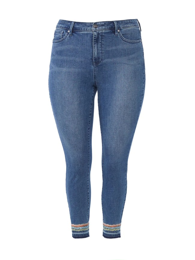 Ami Embroidery Ankle Release Hem Jeans