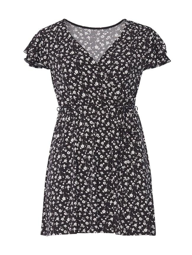 Ditsy Floral Jersey Dress