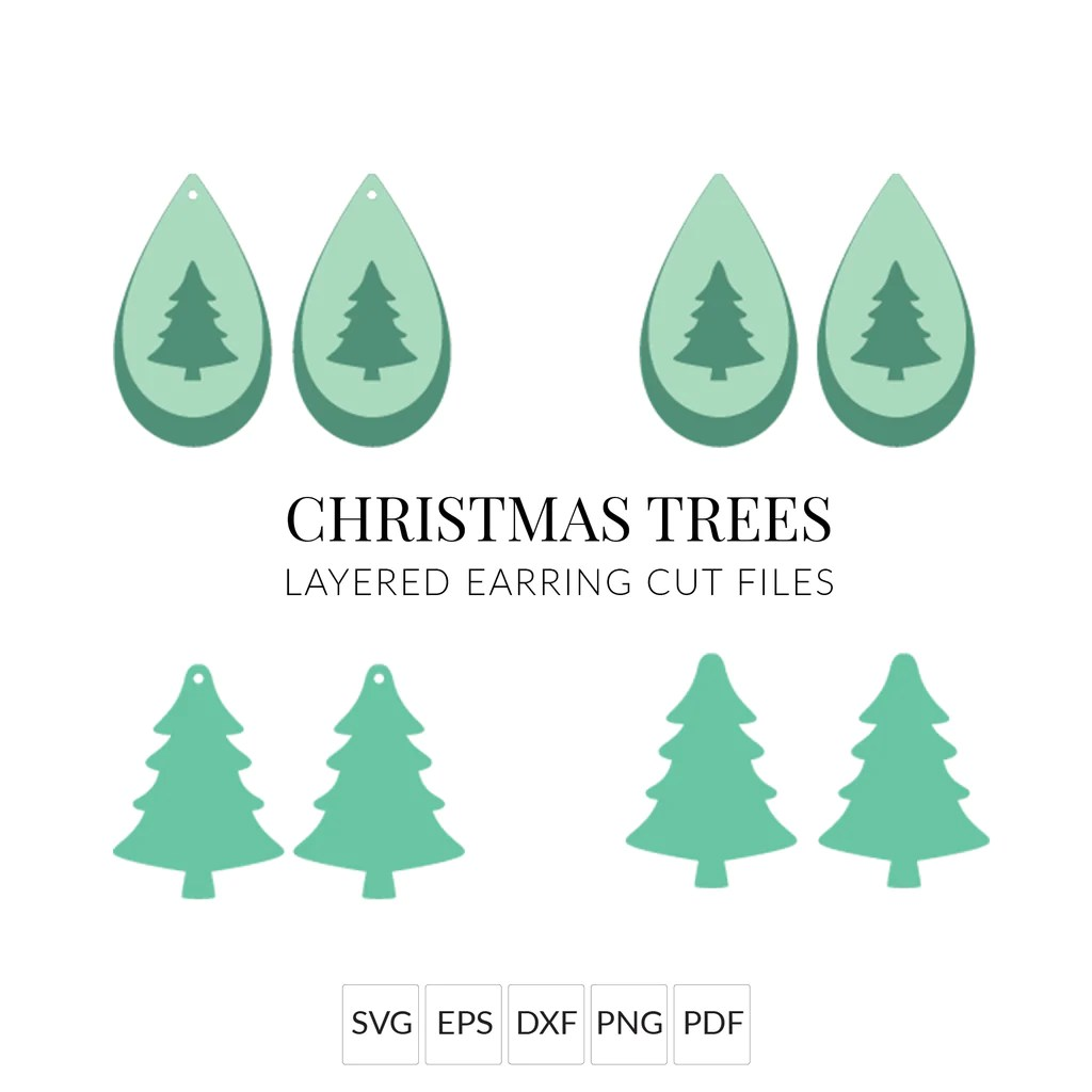 It's nothing against real trees; Christmas Earrings 146 Christmas Tree Earring Svg Faux Leather Earring Svg Template Cricut Leather Earrings Silhouette Cut Files Jewelry Making Beading Craft Supplies Tools Issho Ueno Com