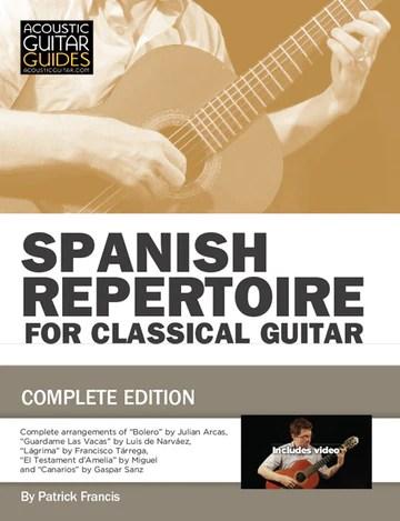 Spanish repertoire for classical guitar book