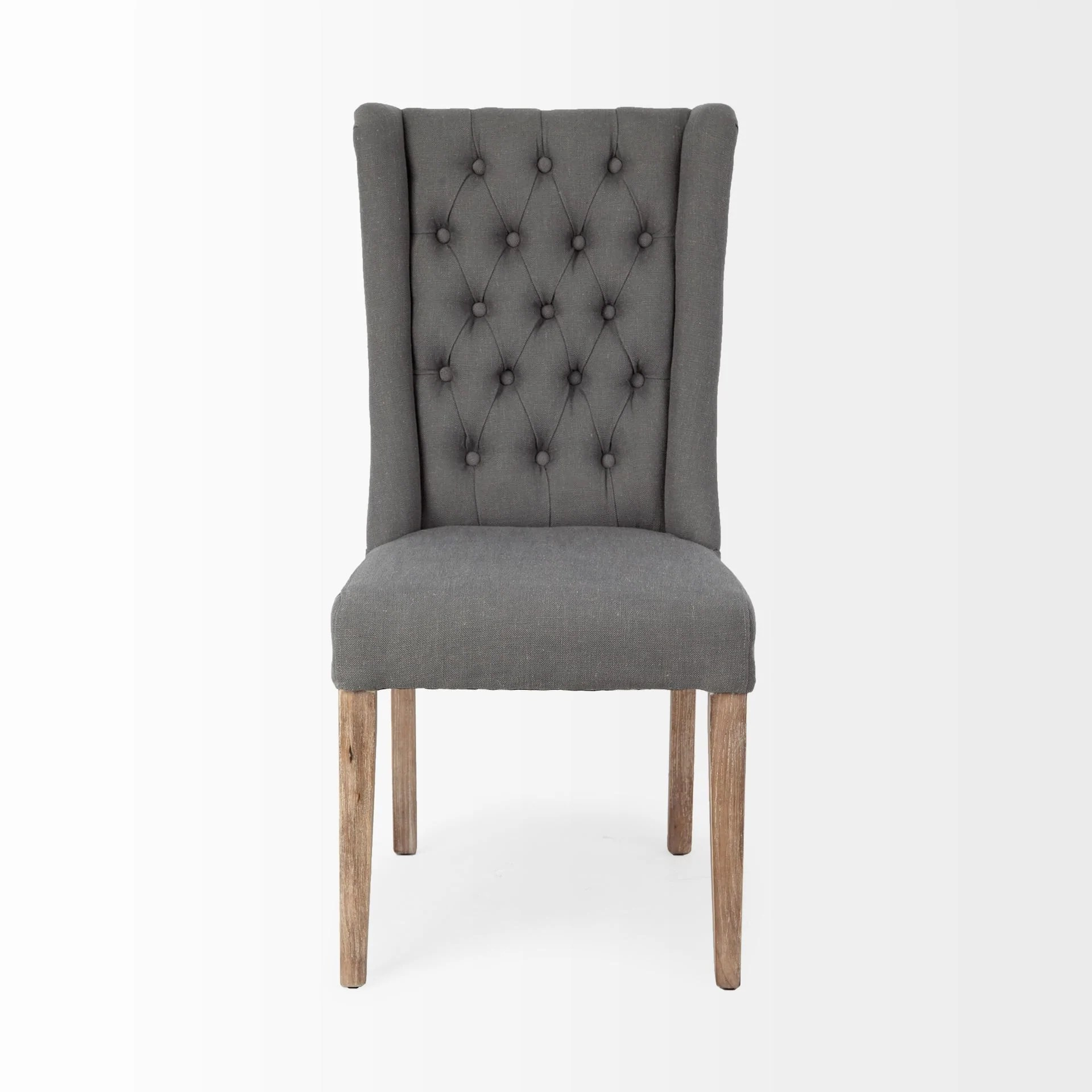 Jimelle Dining Chair Featuring Plush Linen Seating With A Tufted Back