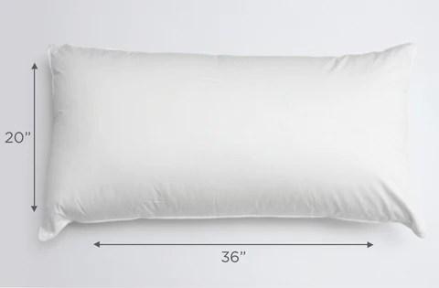 pillow sizes standard queen or king