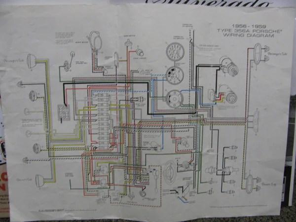 porsche 912 6569 5 gauge color wiring diagram 11x17