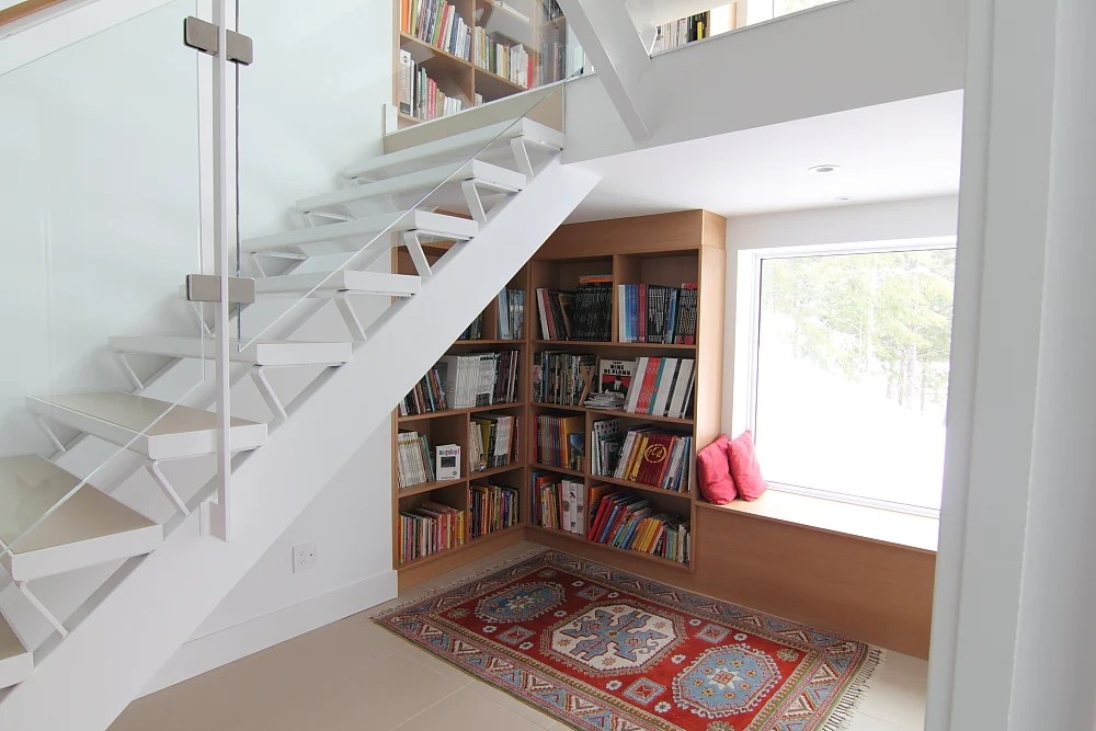 20 Creative Ideas To Use The Space Under Your Stairs Hongkiat | Stair Room Window Design | 3D Model | Smart Window Grill | Elegant | Landing | House Beautiful