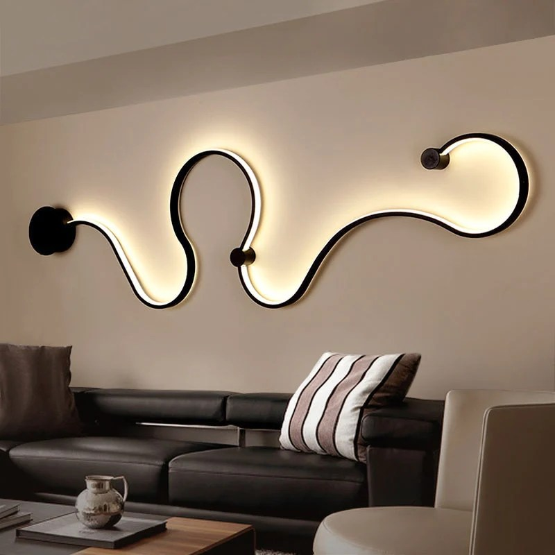Nordic Creative Wall Light LED Bedroom Decoration| Living ... on Wall Lighting For Living Room id=56367