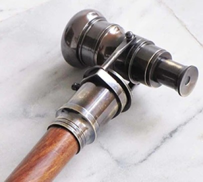 Antique Finish Brass Telescope Spyglass Cane