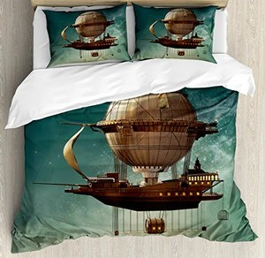 Steampunk Airship Bedding Set