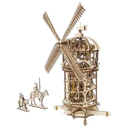 Windmill 3D Wooden Model