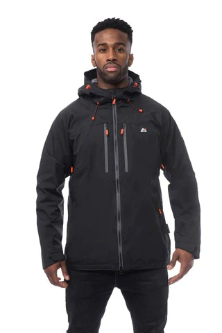 KINETIC Xtreme Series Technical Rain Jacket in Jet Black