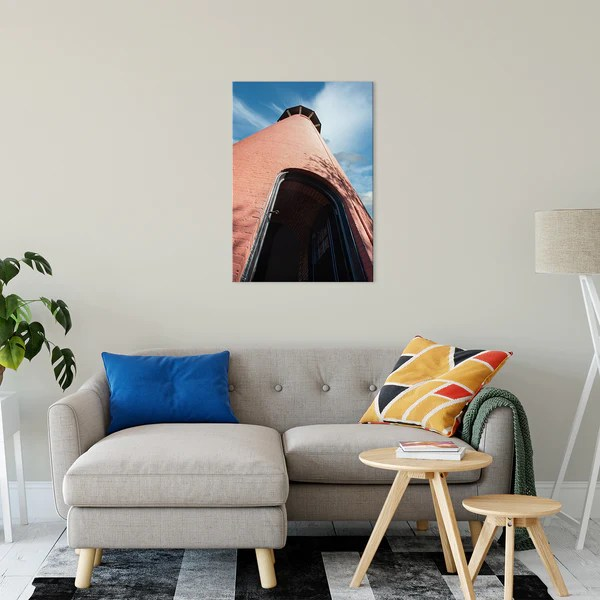 Jupiter Lighthouse Against Sky as a limited edition, collectible signed museum quality canvas wall art print.