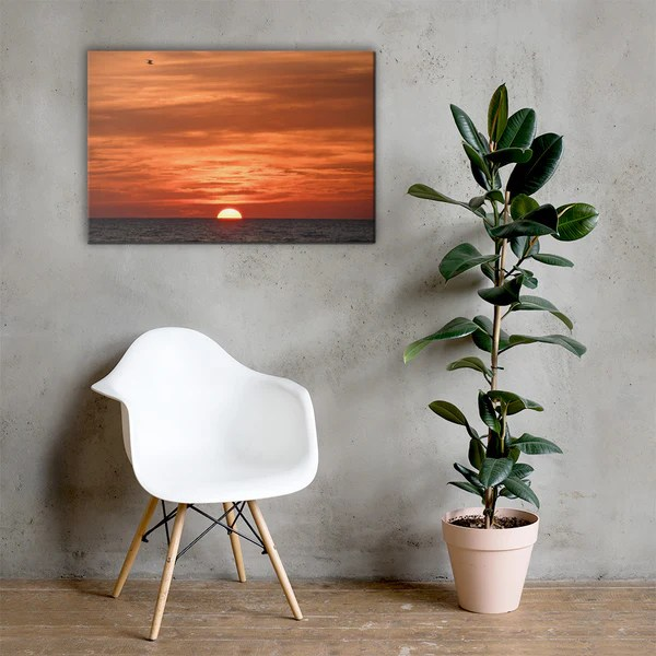 Fire in the Sky - Coastal Sunset as a classic wall decorating canvas print