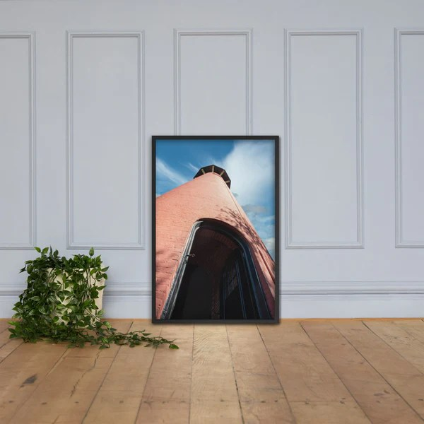 Jupiter Lighthouse Against Sky as a framed 24 x 36 wall art print