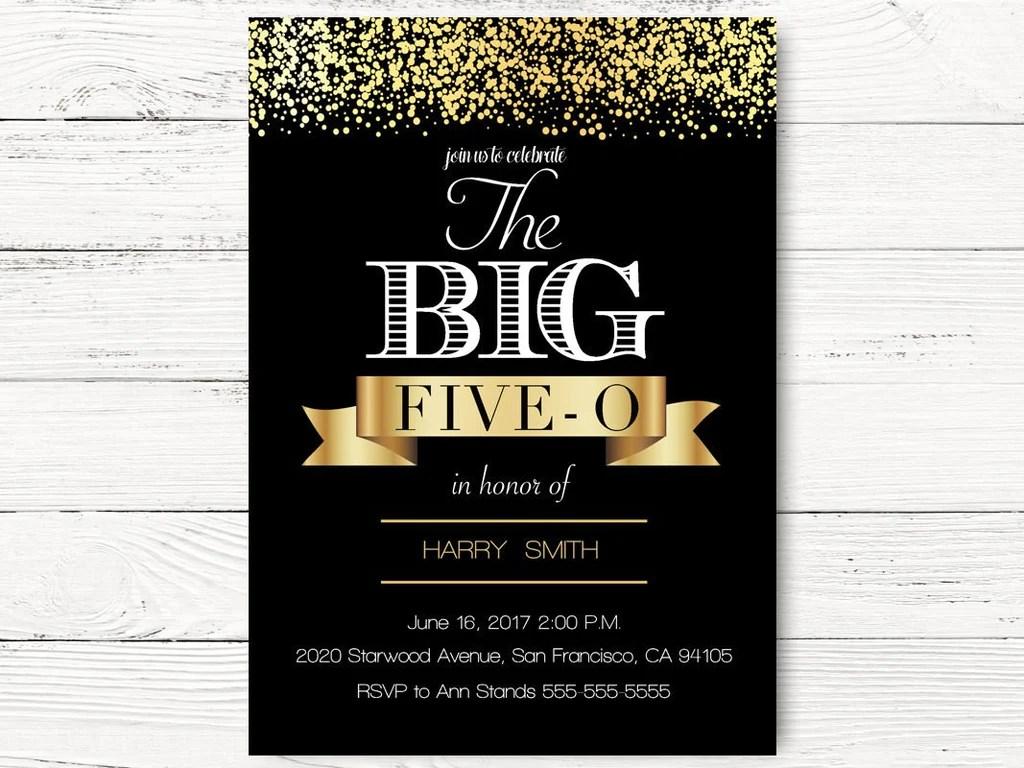 Cheap Invitations 50th Birthday