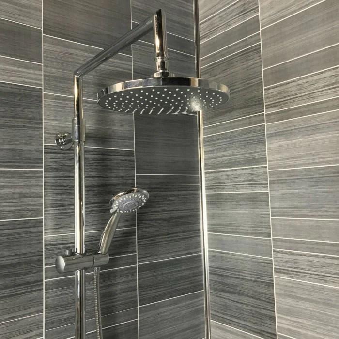 diy materials grey tile wall panels