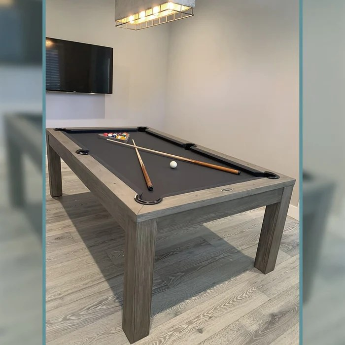 8 Mchenry Dining Pool Table Silver Mist Chesapeake Billiards