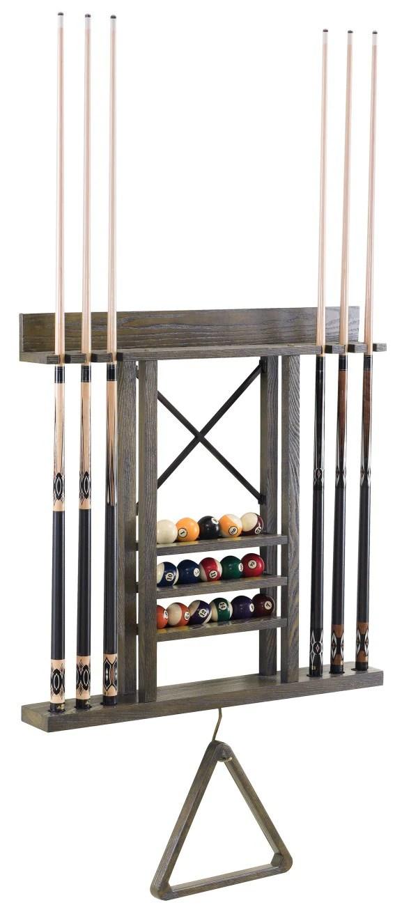 rustic wall cue rack