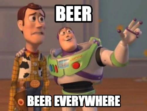 Amsterdam post - Beer everywhere mem