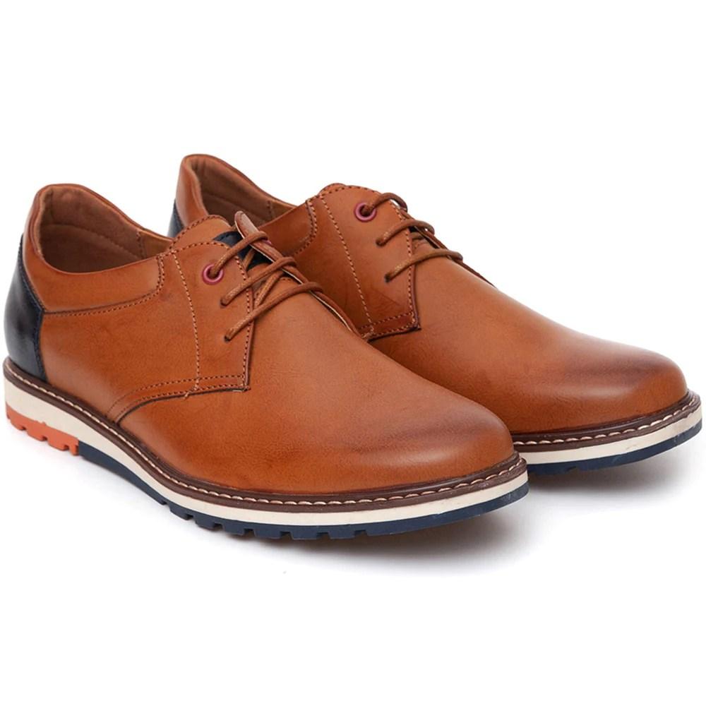 Pantofi barbati Clint cu interior moale din piele naturala Maro
