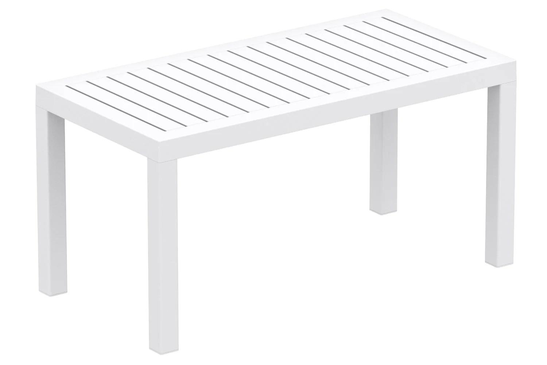table de jardin en plastique blanc resistante aux intemperies mdj10194