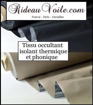 finition tissu ameublement doublure rideaux isolant thermique phonique rideau
