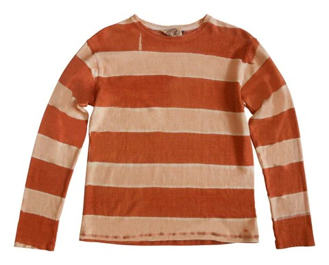 Long Sleeve Striped Hemp Blend Shirt