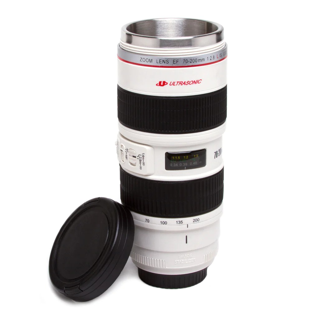 Camera Lens Commuter Mug White The Getty Store