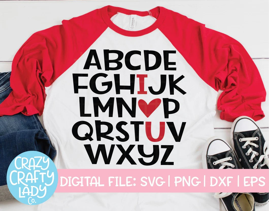 Download ABC I Love You SVG Cut File - Crazy Crafty Lady Co.