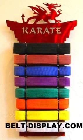 karate belt display personalized martial arts belt rack taekwondo belt holder