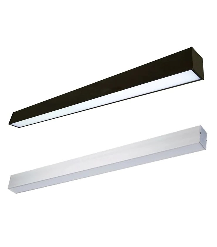 4 foot led direct indirect suspended linear fixture 60 watt