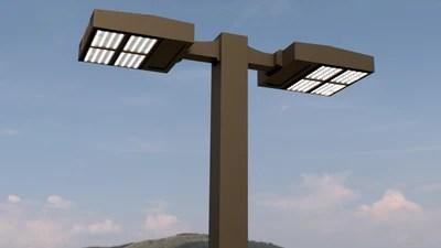 led parking lot light poles order