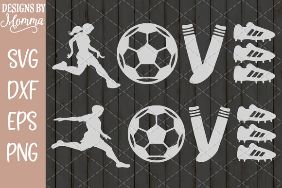 Download Soccer Love SVG DXF EPS PNG - Designs by Momma