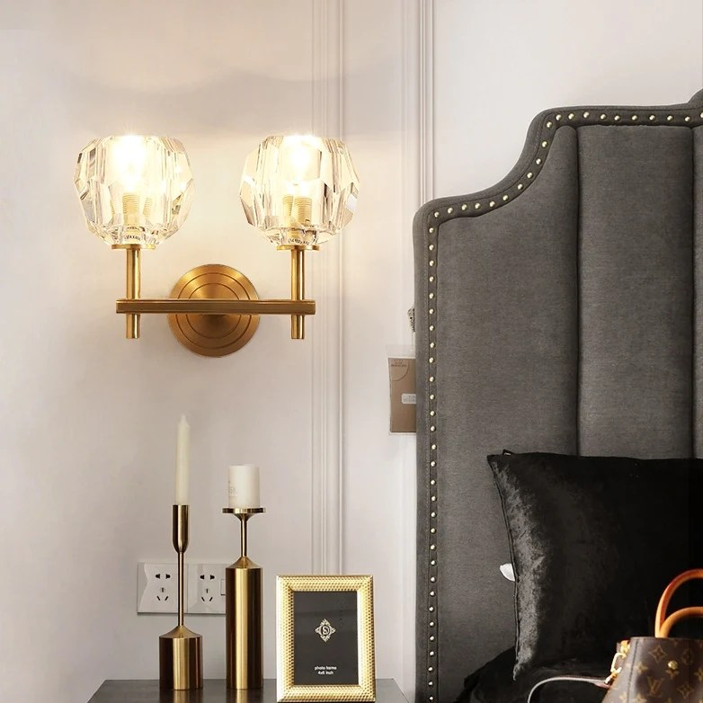Crystal Solid Brass Sconce Wall Lights Bathroom Lights ... on Bathroom Wall Sconce Lighting id=11177