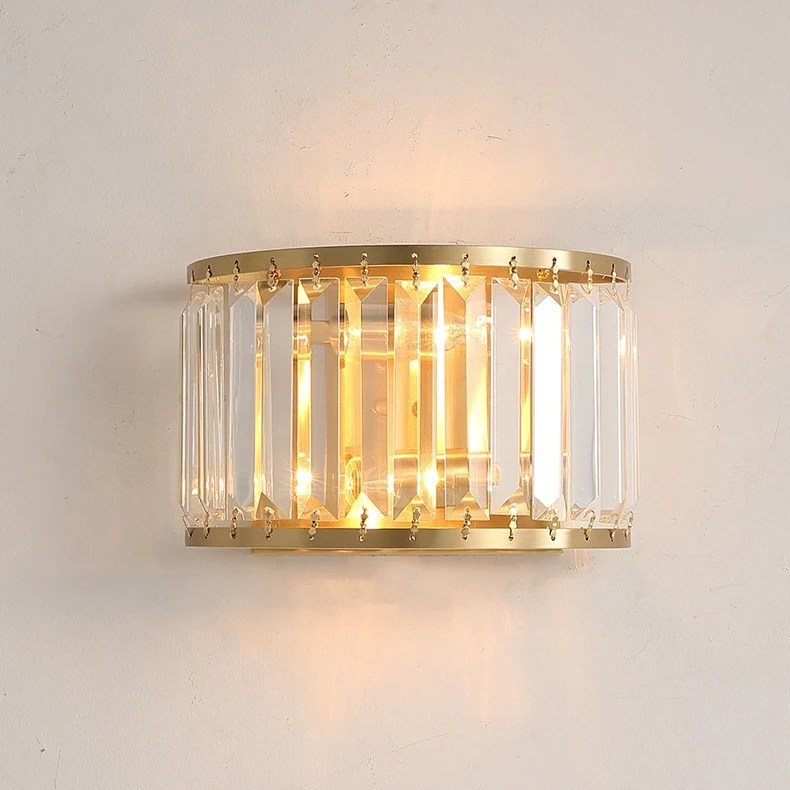 Crystal Solid Brass Sconce Wall Lights Bathroom Lights ... on Crystal Bathroom Sconces id=64204